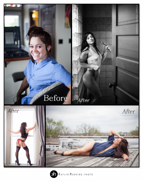 Luxury Boudoir Experience Before and After Images in Solon, Iowa