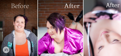 Boudoir Goddess Mindy Before After images