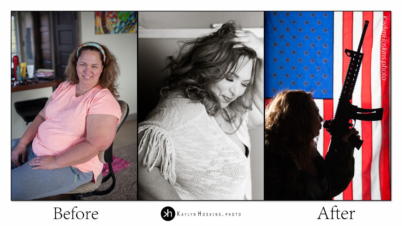plus size goddess before after boudoir collage