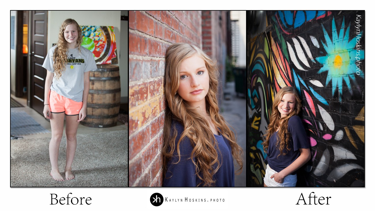 Solon Senior Gracen's before and after Collage