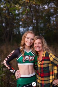 Senior Live and her gorgeous Mom pose for a photo together at the end of her senior photo session