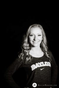 Solon Senior Olivia proudly wears her Baylor shirt during senior session with kaylyn hoskins photography
