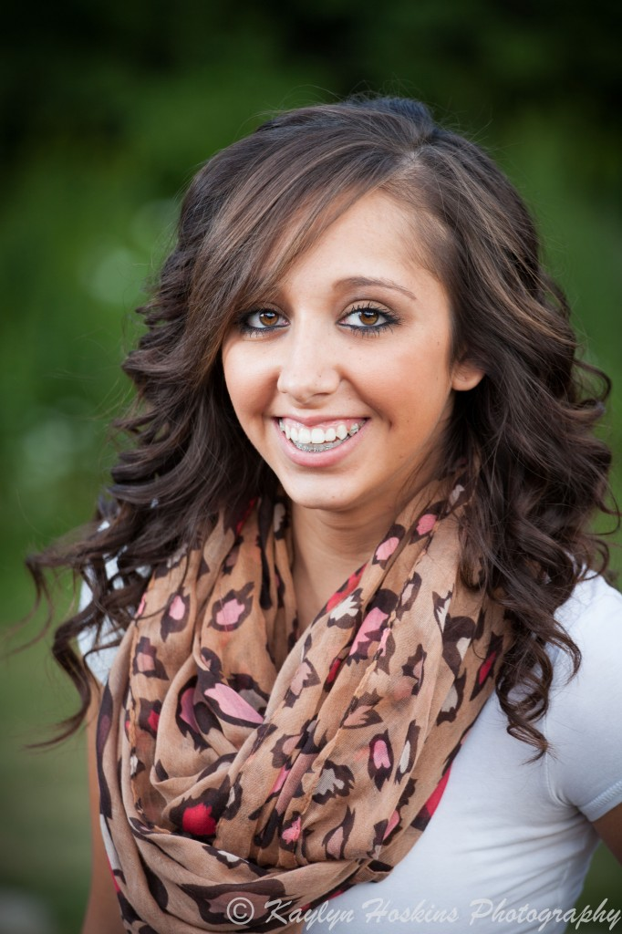 Gorgeous Solon Senior gives a real smile to photographer Kaylyn Hoskins during her senior pics session in Iowa City